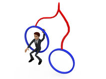 3d man on swings concept Royalty Free Stock Images