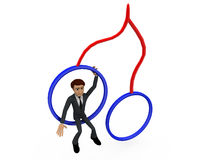 3d man on swings concept Stock Photography