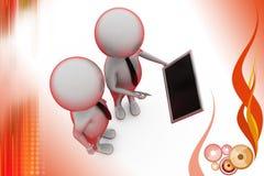 3d man tablet presentation  illustration Royalty Free Stock Photo