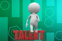 3d man talent illustration Stock Images