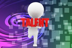 3d man talent illustration Stock Photography