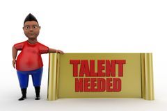 3d man talent needed Royalty Free Stock Photo
