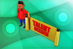 3d man talent needed illustration Royalty Free Stock Photography