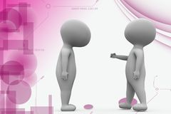 3d man talk to another man illustration Royalty Free Stock Image