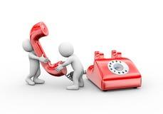 3d man talking on telephone royalty free illustration