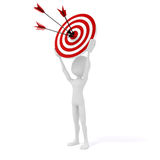 3d man with target and arrows. On white background Stock Photo