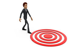 3d man on target concept Stock Photos