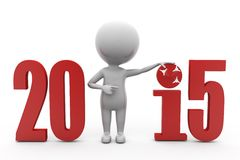 3d man 2015 target concept Stock Images