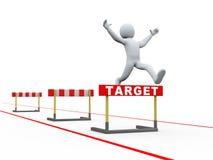 3d man target hurdles track jumping Stock Images