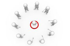 3d man target teamwork concept Royalty Free Stock Photos
