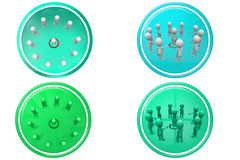 3d man target teamwork icon Stock Photos
