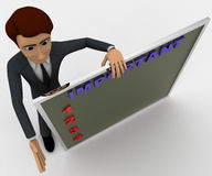 3d man with task chart board concept Stock Photography