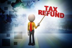 3d man with tax concept Royalty Free Stock Photography