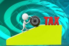3d man tax illustration Stock Images