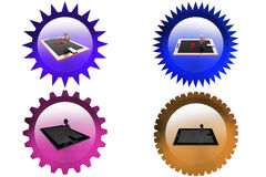 3d man tax jump icon Royalty Free Stock Images