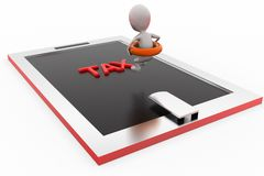 3d man tax pool concept Stock Images