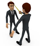3d man teaching concept Royalty Free Stock Image