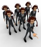 3d man team of call center concept Stock Images