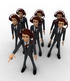 3d man team of call center concept Stock Photo