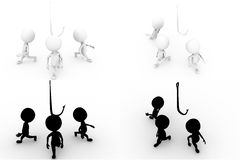 3d man team concept collections with alpha and shadow channel Stock Photo