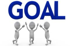 3d man team goal concept Stock Images