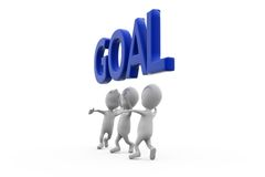 3d man team goal concept Royalty Free Stock Photos