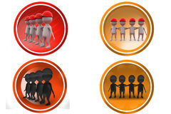 3d man team icon Stock Photography