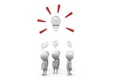 3d man team idea concept Stock Photo