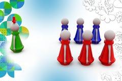 3d man team leader illustration Royalty Free Stock Images