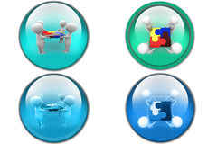 3d man team puzzle icon Royalty Free Stock Photo