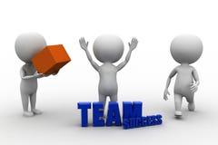 3d man team success Stock Photography