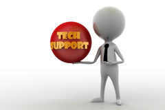3d man tech support concept Royalty Free Stock Photo