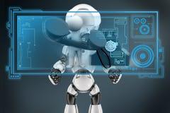 3d man telephone hologram Stock Image
