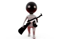 3d man terrorist concept Stock Photography