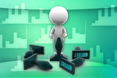 3d man tested illustration Royalty Free Stock Image