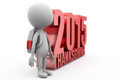 3d man 2015 thanks giving concept Royalty Free Stock Photo
