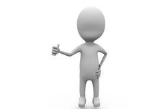 3d man thumb up concept Stock Image