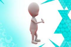 3d man thumb up  illustration Royalty Free Stock Image