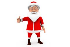 3d  santa thumbs up concept Royalty Free Stock Images
