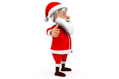 3d santa thumbs up concept Stock Images