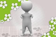3d man thumbs up illustration Royalty Free Stock Photos