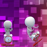 3d man time to wake up illustration Royalty Free Stock Image