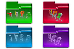 3d man tips icon Stock Image