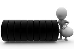 3d man tire concept Royalty Free Stock Image