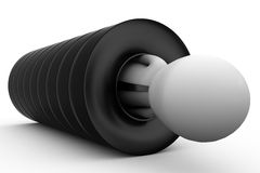 3d man in tire concept Royalty Free Stock Photography