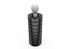 3d man in tire concept Stock Image
