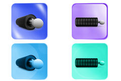 3d man in tire icon Royalty Free Stock Photos