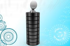 3d man in tire illustration Royalty Free Stock Images