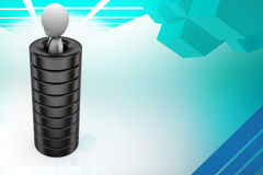 3d man in tire illustration Stock Images