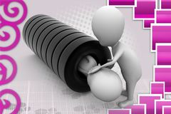3d man tire illustration Stock Images
